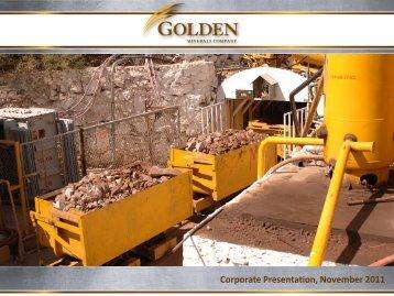 Corporate Presentation, November 2011 - Golden Minerals Company