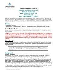 Capsule Endoscopy - Group Health Cooperative