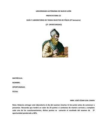 UNIVERSIDAD AUTÓNOMA DE NUEVO LEÓN ... - Preparatoria 22