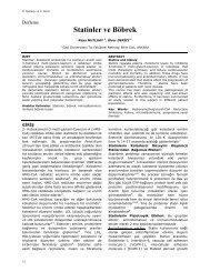 Statinler ve Böbrek - Yeni Tıp Dergisi