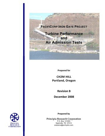 Turbine Performance and Air Admission Tests - PacifiCorp