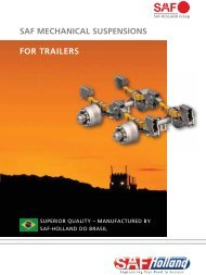 SAF MECHANICAL SUSPENSIONS FOR TRAILERS - Brazil