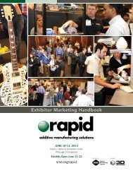 Exhibitor Marketing Kit - rapid 2013