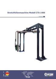 Stretchfolienmaschine Modell CTA 1400