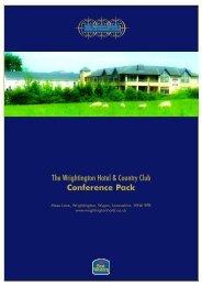 The Wrightington Hotel & Country Club Conference ... - Em-online.com