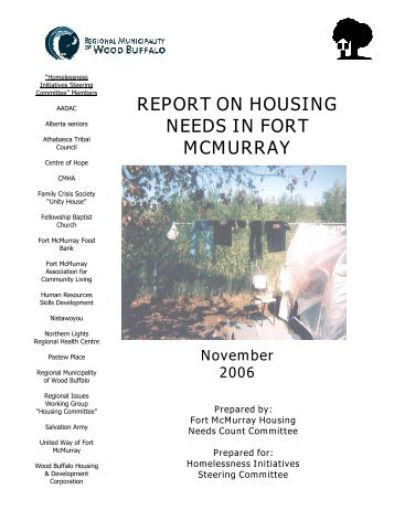 FORT McMURRAY HOUSING NEEDS COUNT 2006 - Regional ...