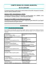 compte rendu du 30 juin 2007 - Montreuil-Bellay