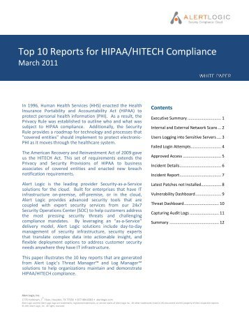 WHITE PAPER TEMPLATE - HIMSS Analytics