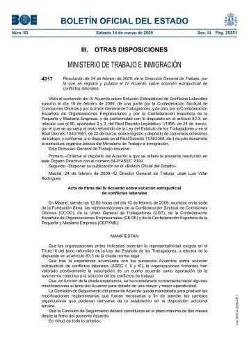 acuerdo sobre solución extrajudicial de conflictos laborales - CNC ...