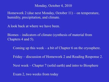 Monday, October 4, 2010 Homework 2 (due next Monday, October ...