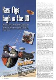 KIWI FLYS HIGH IN THE UK - Wind Warrior