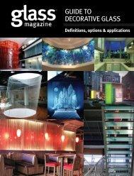 Guide to decorative Glass - Glass Magazine