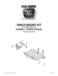 owners manual cc25-5260 - winch mounting kit yam - Schuurman B.V.