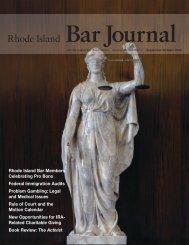 Bar Journal Volume 58 Number 2 September/October 2009