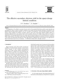 The effective secondary electron yield in the space-charge limited ...