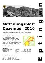 Mitteilungsblatt für den Monat Dezember 2010 - Eptingen