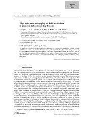 High pulse area undamping of Rabi oscillations - Physics at ...