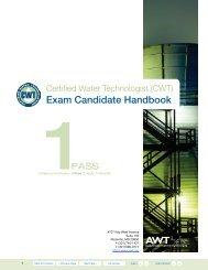 Certified Water Technologist (CWT) Exam Candidate Handbook