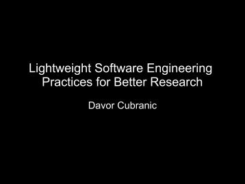 Lightweight Software Engineering Practices for Better Research