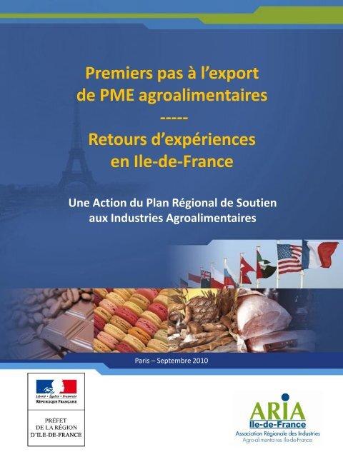 Premiers pas à l'export de PME agroalimentaires - Ania-Export