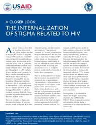 A closer look: the internalization of stigma related to HIV