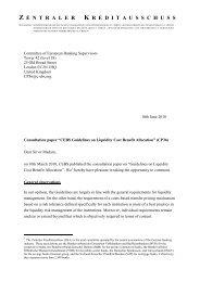 CEBS CP 36 - Die Deutsche Kreditwirtschaft
