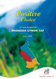 Print 21730/10 positive choice rhondd - Rhondda Cynon Taf