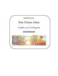 Deur Christus Alleen - AH Bogaards