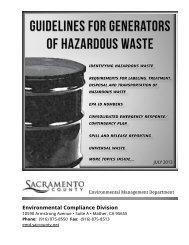 Guidelines for Generators of Hazardous Waste - Environmental ...