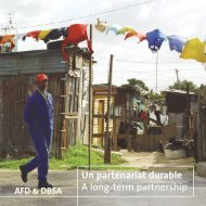 Un partenariat durable A long-term partnership - Agence Française ...