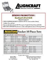 AccuTorq Socket 10 Piece Sets - Ctequipmentguide.ca