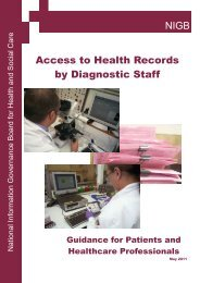 NIGB Access to Health Records by Diagnostic Staff - Society of ...