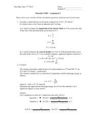 Materials 1M03 Assignment 3 Summer 2013 Answer ... - Course Notes