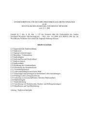 Studienordnung für den Diplomstudiengang Biotechnologie ... - ZSB