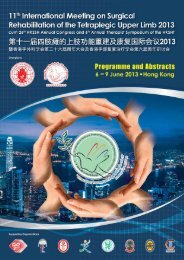 Programme Book - Hong Kong Society for Surgery of the Hand