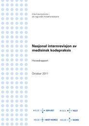 Nasjonal internrevisjon av medisinsk kodepraksis - Helse Vest