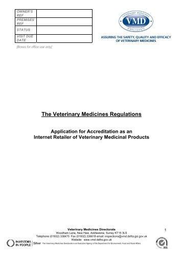 Application Form - Veterinary Medicines Directorate - Defra