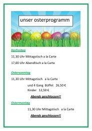 Abends geschlossen!! Ostermontag - Haus Blumenkamp