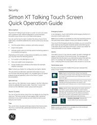 Simon XT Touch Screen - Guardian Protection Services
