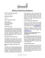 Water Quality Report - Suwanee, Georgia