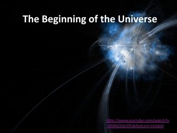 The Big Bang and the Beginning of the Universe
