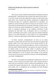 El Movimiento Globalización: Algunos puntos de ... - Cholonautas