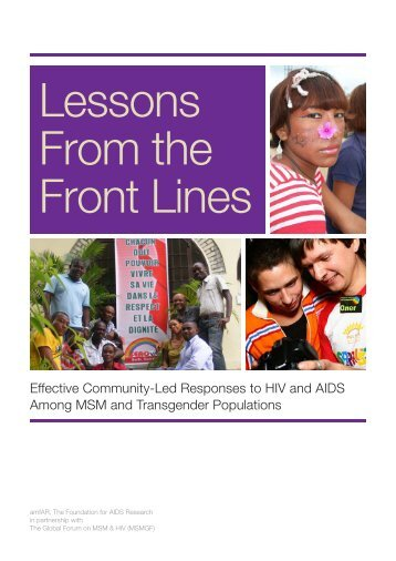 Effective Community-Led Responses to HIV and AIDS ... - amfAR