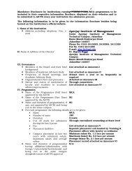 Mandatory Disclosure - Apeejay Education Society
