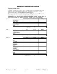 West Marine Electrical Worksheet