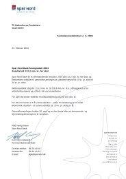 Spar Nord Bank Årsregnskab 2003 Resultat på 313,2 mio. kr. før skat
