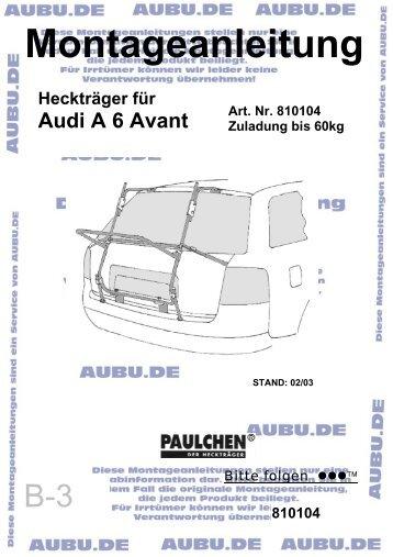 Montageanleitung - AUBU.DE - Shop Katalog