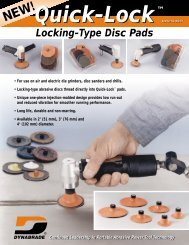 Quick-Lock™ Locking-Type Disc Pads - Dynabrade Inc.