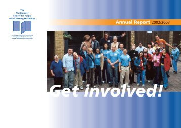 Annual Report 2002/2003 - Westminster Society for People with ...