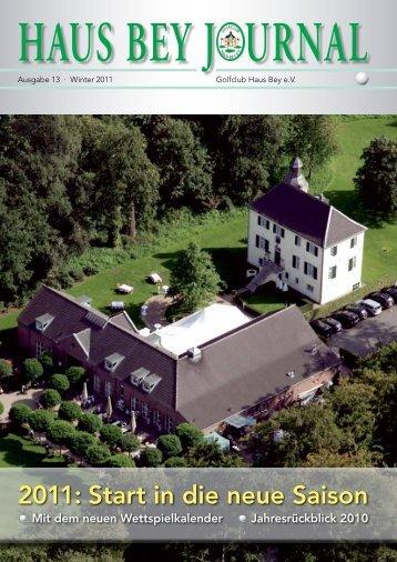 2011: Start in die neue Saison  - Golfclub Haus Bey